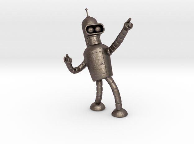 Bender in Polished Bronzed Silver Steel