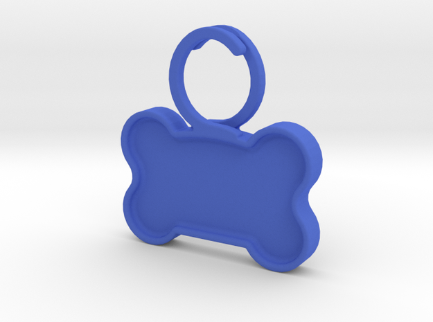 Quiet Dog Tag in Blue Processed Versatile Plastic