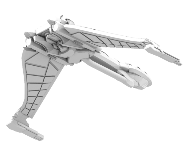 Sha'Grok Class A Cruiser wings down 3d printed