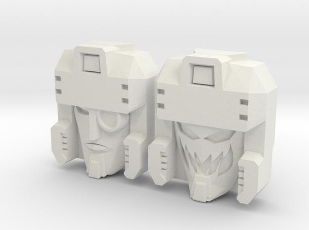 Blitzwing Icy/Random 2-Pack (Titans Return) in White Natural Versatile Plastic