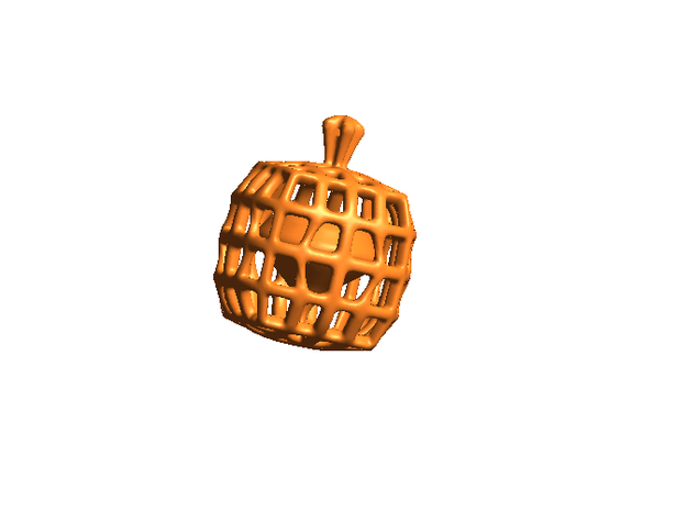 Halloween Heart in a Pumpkin Cage Pendant 3d printed