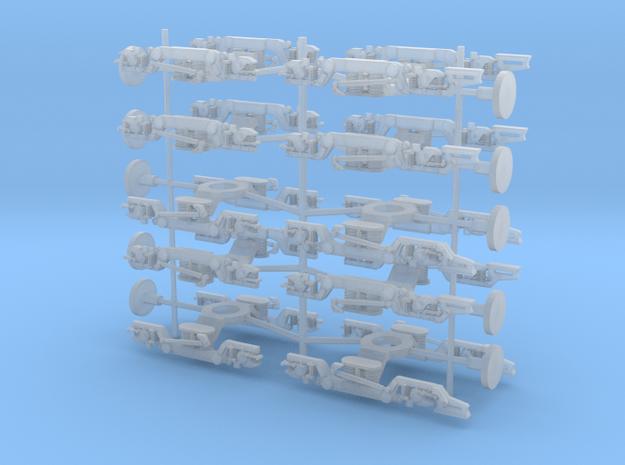 ETR610 bogies N and TT in Smooth Fine Detail Plastic: 1:160 - N