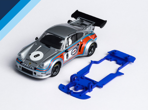1/32 Carrera Porsche RSR Chassis for Slot.it AW in Blue Strong & Flexible Polished