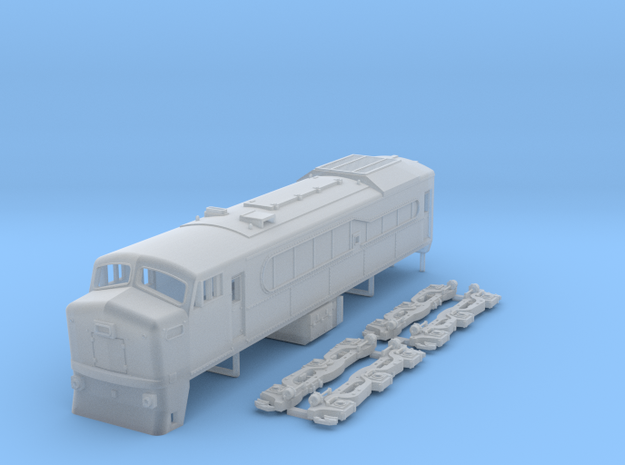 N Scale RF-615e locomotive in Smooth Fine Detail Plastic