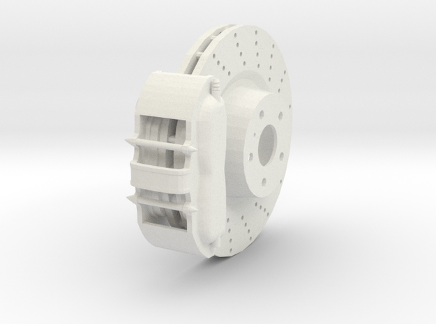 Sport Ventilated Brake System in White Strong & Flexible