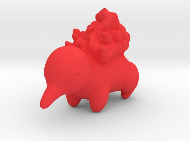 Cyndaquil in Red Processed Versatile Plastic