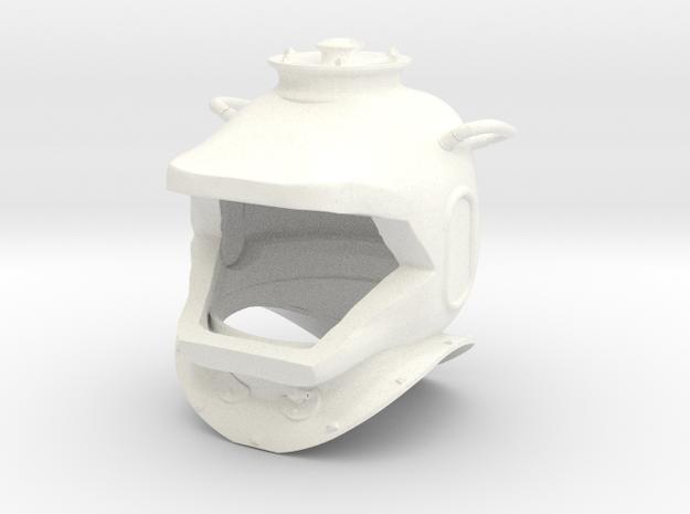 Nautilus Helmet Capped Earholes in White Processed Versatile Plastic