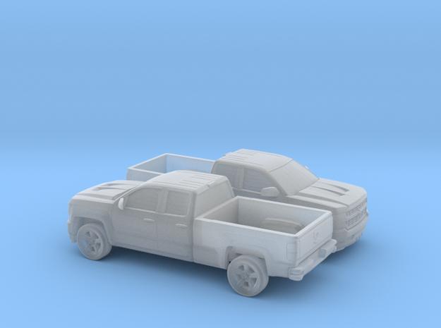 1/160 2X 2016/17 Chevrolet Silverado EXT Cab Long  in Smooth Fine Detail Plastic