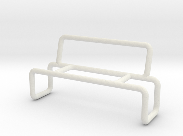 Bench 2 scale 1-100 in White Natural Versatile Plastic: 1:100