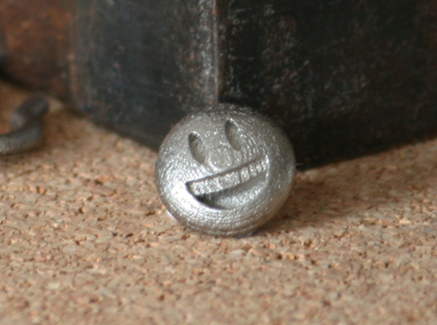 Smiley Dime Sized Emoji in Stainless Steel