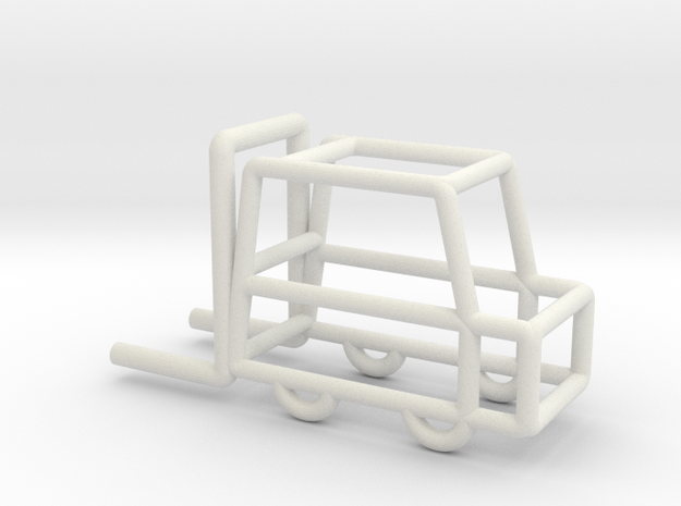 Fork-lift Truck scale 1:100 in White Natural Versatile Plastic: 1:100