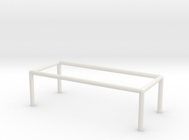 Table 1-100 300x120x90 Cm in White Strong & Flexible: 1:100