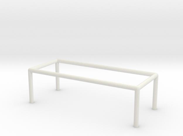 Table 1-100 300x120x90 Cm in White Natural Versatile Plastic: 1:100
