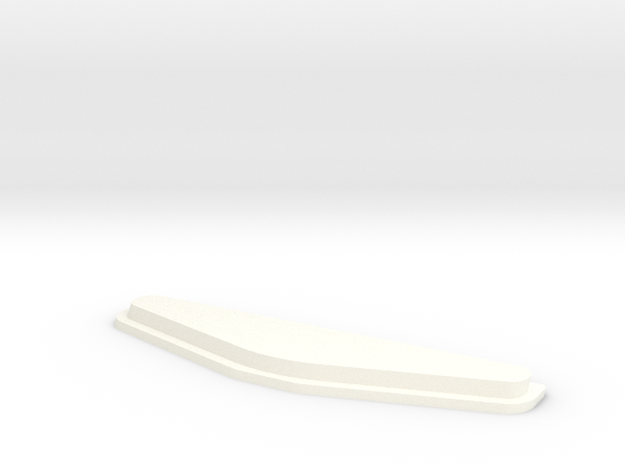 PS4 DualShock Custom Light Cover in White Processed Versatile Plastic