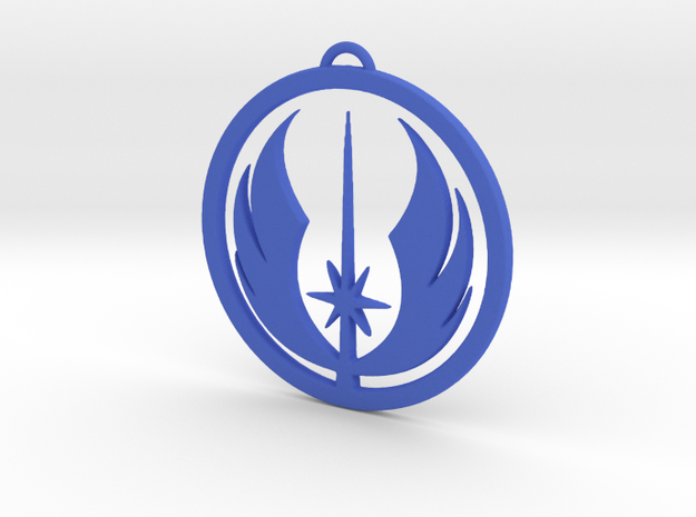 Jedi Order Pendant in Blue Strong & Flexible Polished
