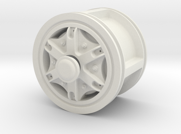 Front-wheel-48mm in White Natural Versatile Plastic