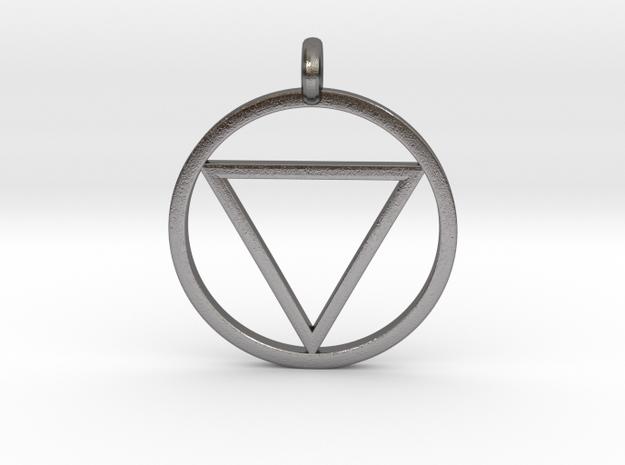 Naruto Jashin Pendant/Keyring (SMALL) in Polished Nickel Steel