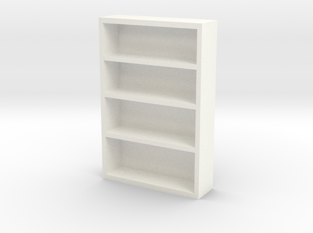 Bookcase in White Processed Versatile Plastic