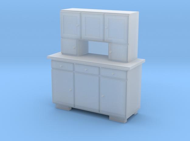H0 Cupboard 3 Doors - 1:87 in Smooth Fine Detail Plastic