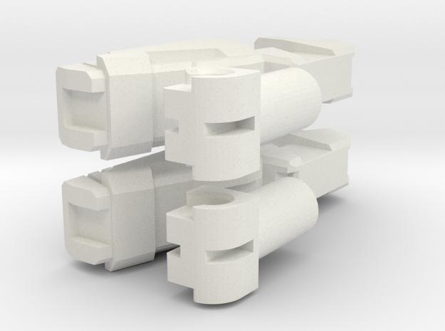 TFA RC Blasters [5mm peg] in White Natural Versatile Plastic