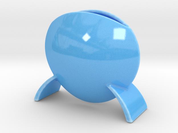 Vase DS in Gloss Blue Porcelain