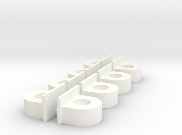 Body Support V3 in White Processed Versatile Plastic