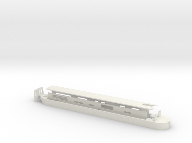 NarrowBoat - N Scale in White Natural Versatile Plastic