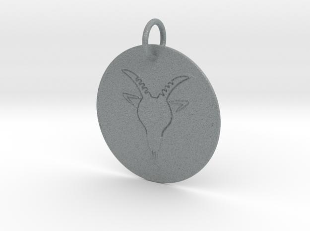Capricorn Keychain in Polished Metallic Plastic