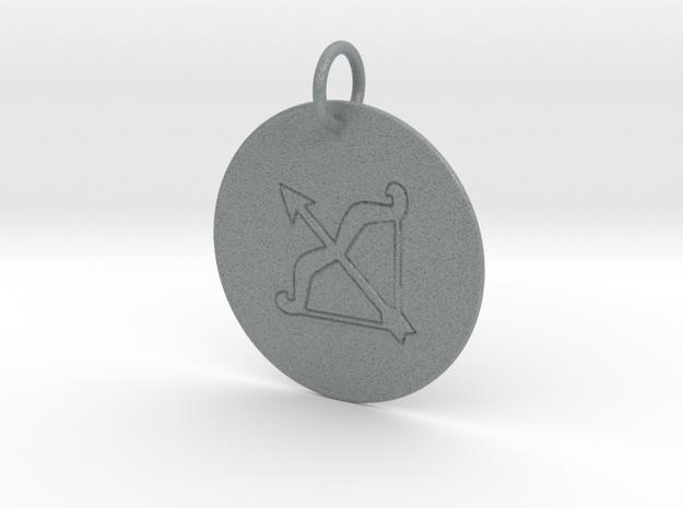 Sagittarius Keychain in Polished Metallic Plastic