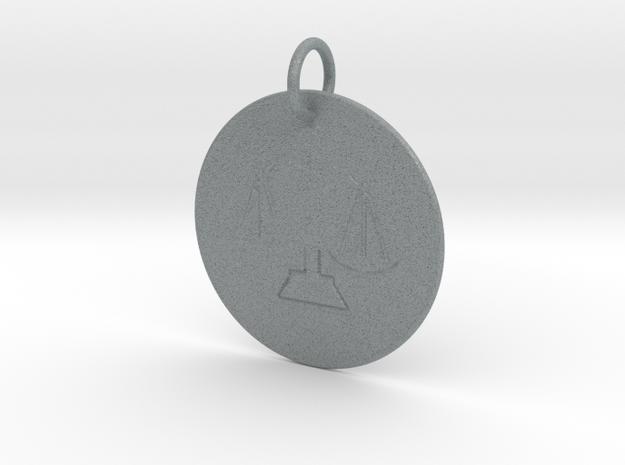 Libra Keychain in Polished Metallic Plastic