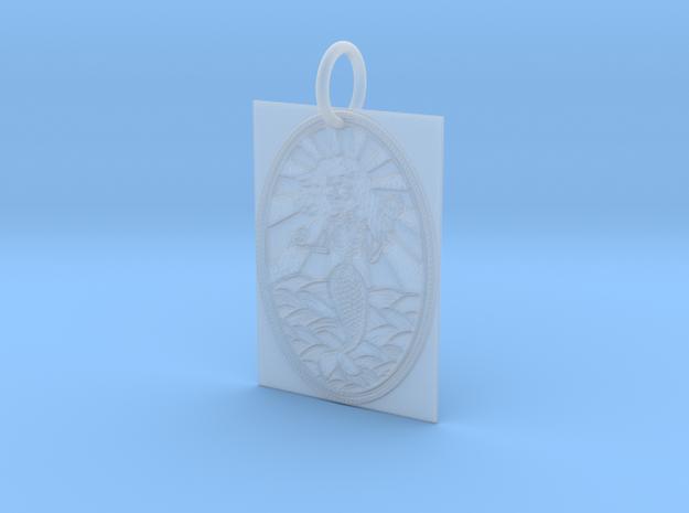 Dead Mermaid Keychain in Smooth Fine Detail Plastic
