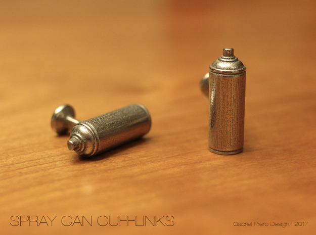 Spray Paint Can Cufflinks