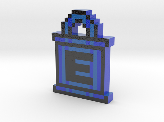 Mega Man E-Tank Keychain in Coated Full Color Sandstone