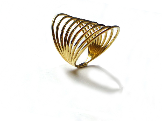 MAGNETIC FIELD RING Size 7 in Fine Detail Polished Silver