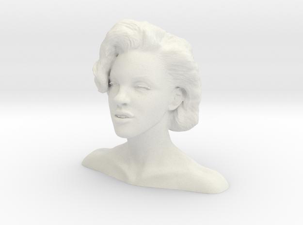 Marilyn Monroe bust in White Strong & Flexible