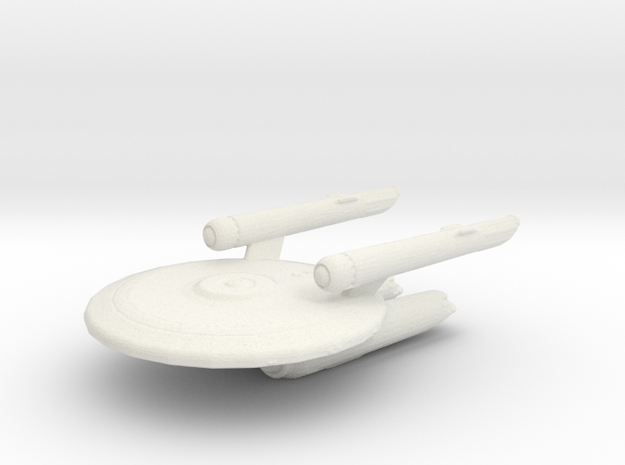 Uss Fox in White Natural Versatile Plastic