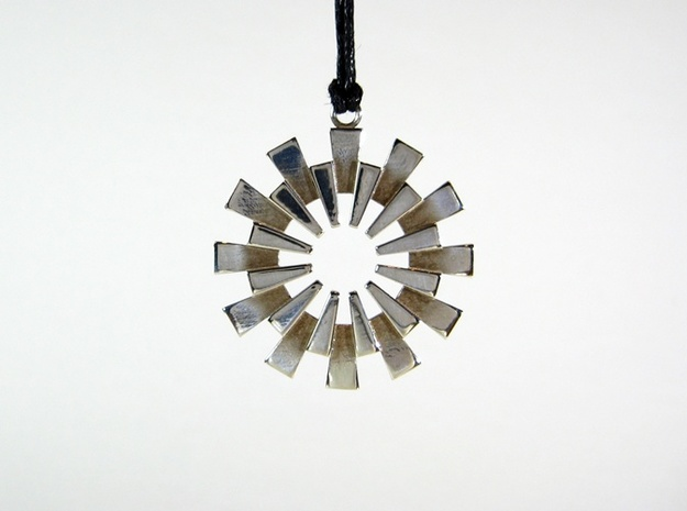 Sunburst Pendant - Printed Light in Fine Metals 3d printed The Sun Pendant in Polished Silver