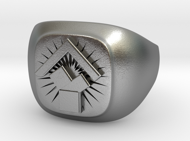 Pennsylvania Past Master's Ring in Raw Silver: 11.5 / 65.25