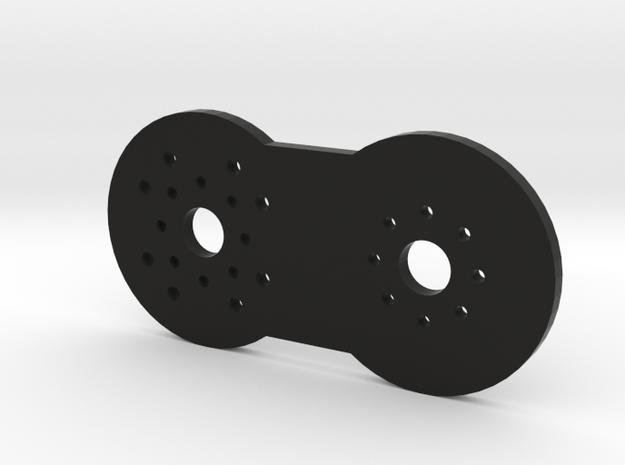 ShortTopShoulderPlate 1x in Black Natural Versatile Plastic