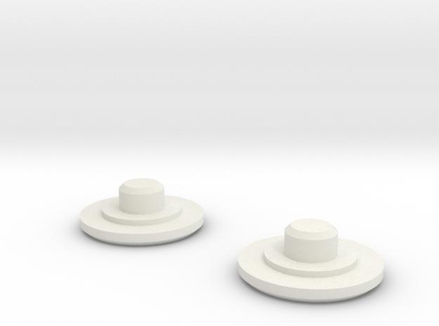 Fidget Bearing Caps in White Strong & Flexible