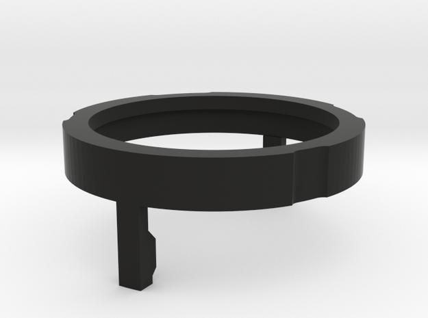 2W 28mm Bass Speaker cap for Korbanth DV6 in Black Natural Versatile Plastic