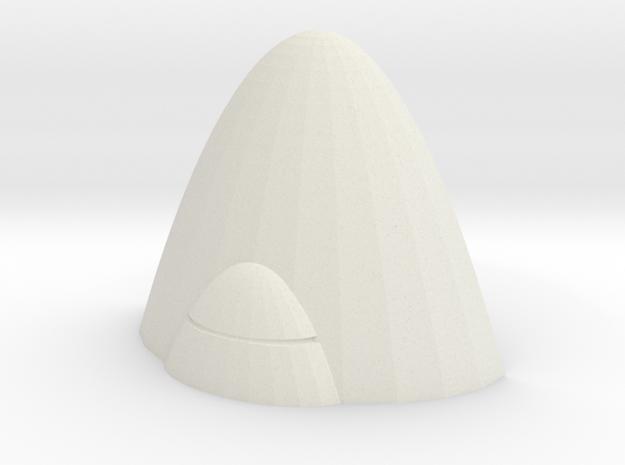 Alien Barricade 25mm in White Natural Versatile Plastic