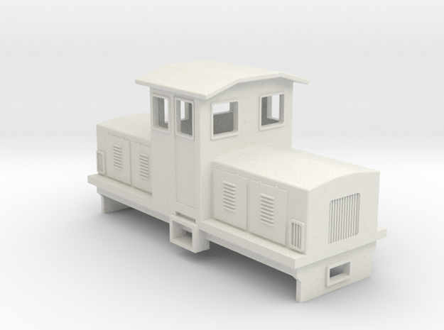 HOn30 Electric Centrecab Locomotive (Jennifer 1) in White Strong & Flexible