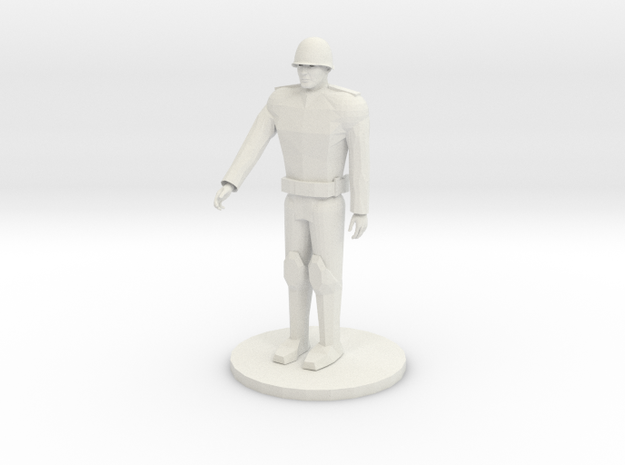 Russian Unarmed soldier in White Natural Versatile Plastic