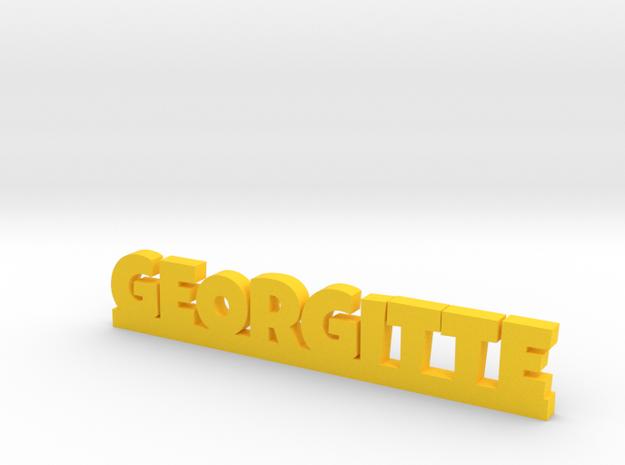 GEORGITTE Lucky in Yellow Processed Versatile Plastic
