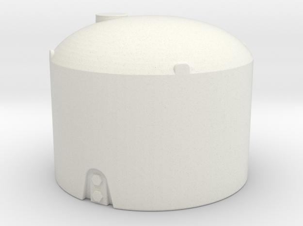 1/64 Scale 1500 Gallon Tank in White Natural Versatile Plastic
