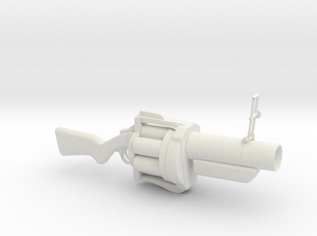 Grenade launcher in White Natural Versatile Plastic