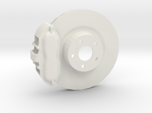 Ventilated Brake System in White Strong & Flexible
