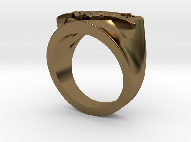Wedding Ring US7.5 in Polished Bronze