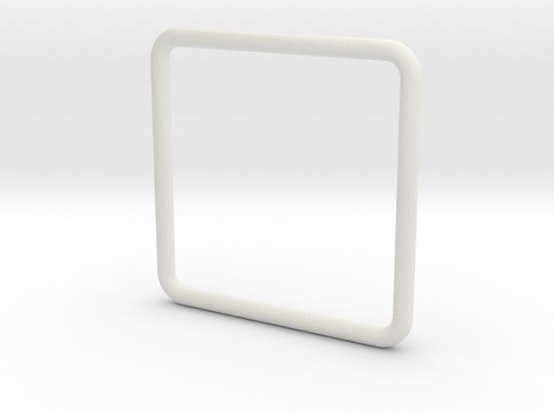Anello Quadrato Dim Effettive in White Strong & Flexible